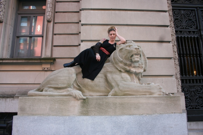 """The Lioness Takes New York"" photographed by Nichole Hastings"