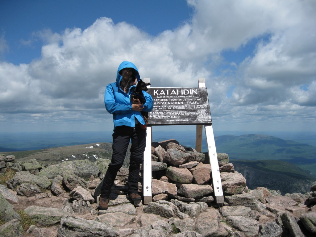 5267-ft, Summit of Mt. Katahdin, Baxter State Park, Maine, May 30, 2010