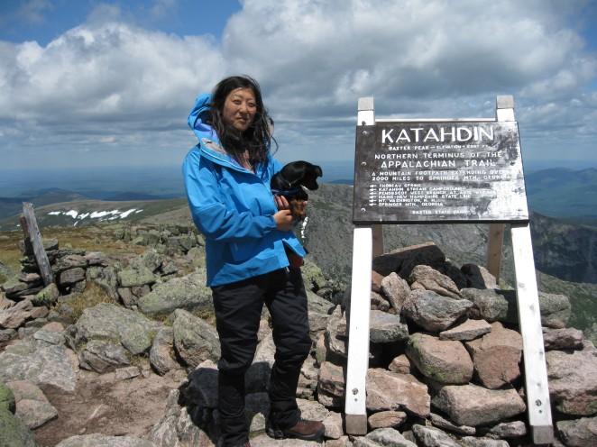 5267-ft, Summit of Mt. Katahdin, Baxter State Park, Maine, May 30, 2010.