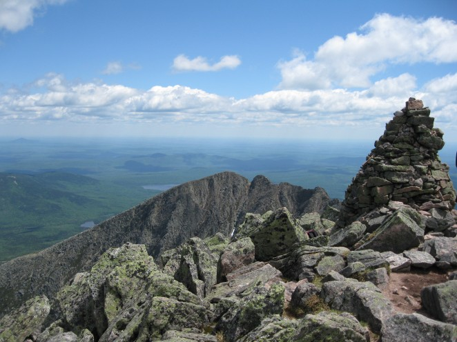 5267-ft, Mt. Katahdin, Baxter State Park, Maine, May 30, 2010.
