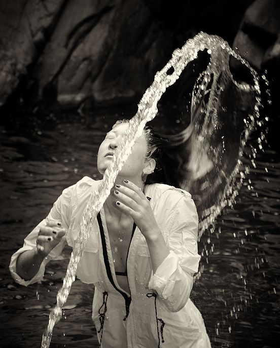 'Water Hair Flip' photographed by Sally Carpenter