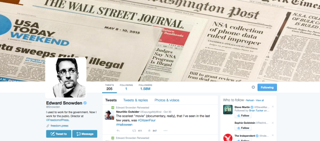 Edward Snowden Twitter Screen Shot