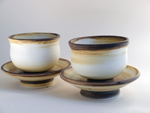 White Teabowl Sets no. 2 & 3